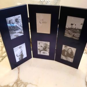 Carr Metallic Blue 6 panel 2x3 Photo frame